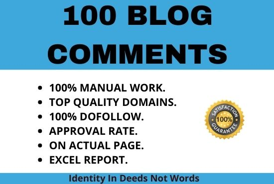 I will create 100 niche topical dofollow blog comment backlinks