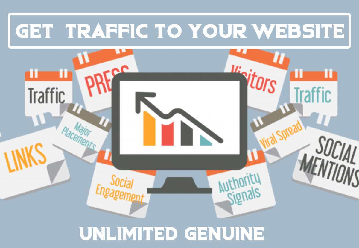 I will Push UNLIMITED and genuine real Website TRAFFIC