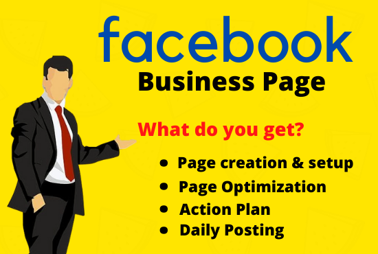 I will create and manage your Facebook business page or Instagram page