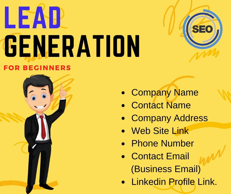 I will do business lead generation and find the email,  phone number,  linkedin profile