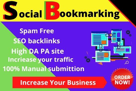 Provide 50 social bookmarks backlinks SEO backlinks on Bookmarking sites