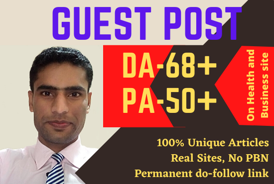 I will do link building guest on DA 68 plus backlink