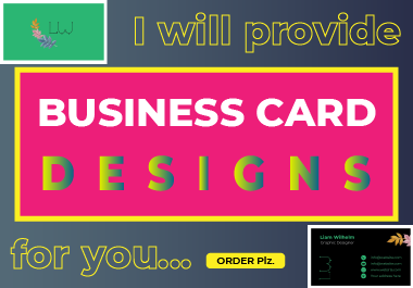 I will provide professional business card design service with print ready files