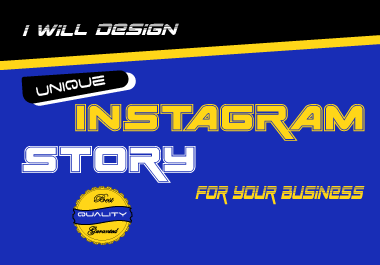 I will design unique Instagram story for your business