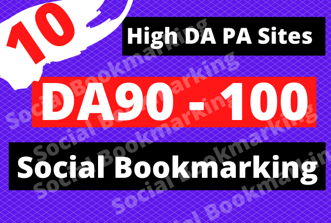 I will do Top 10 social bookmarking submission with high quality backlinks