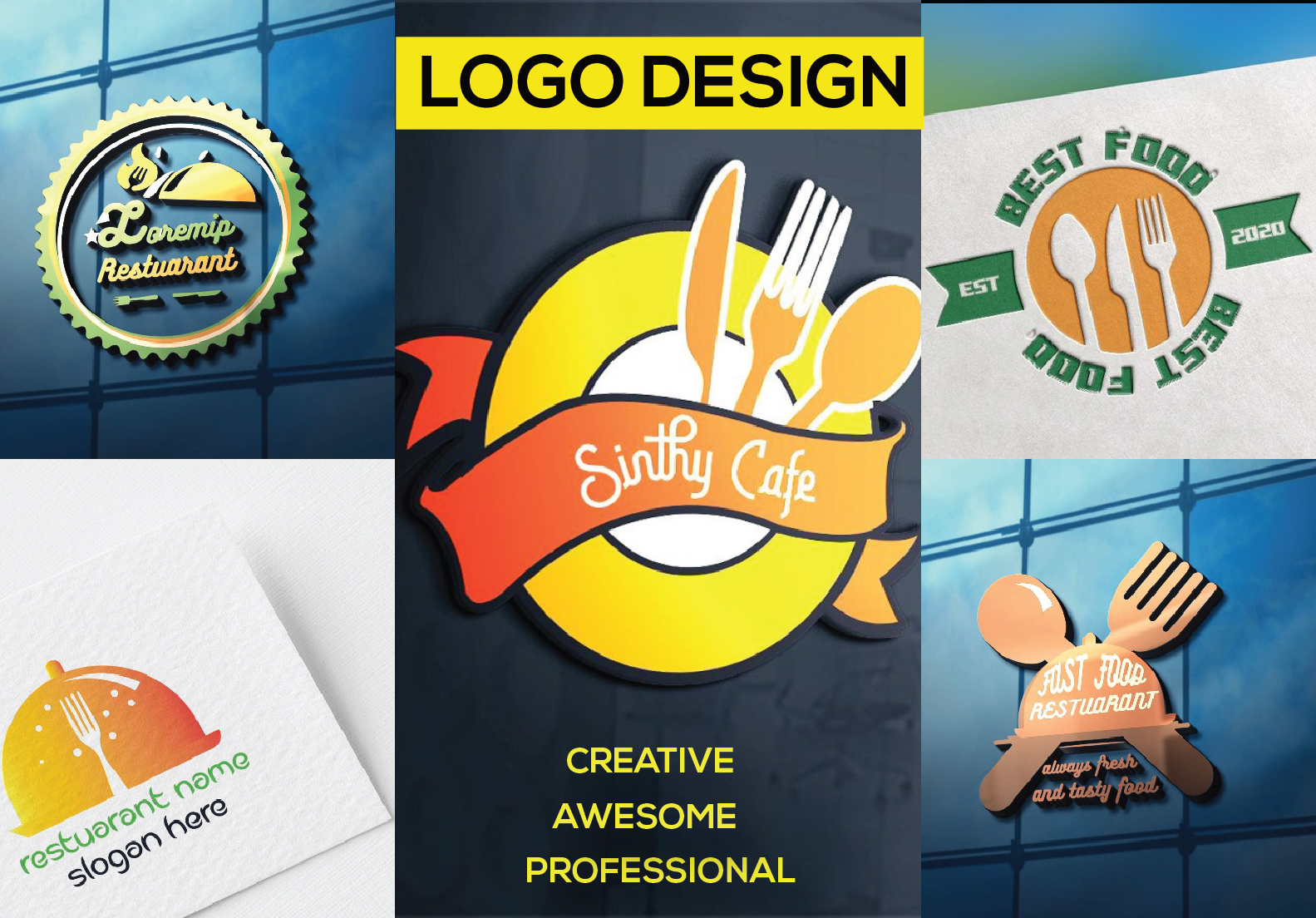 I will design professional logo and Restuaranrt logo