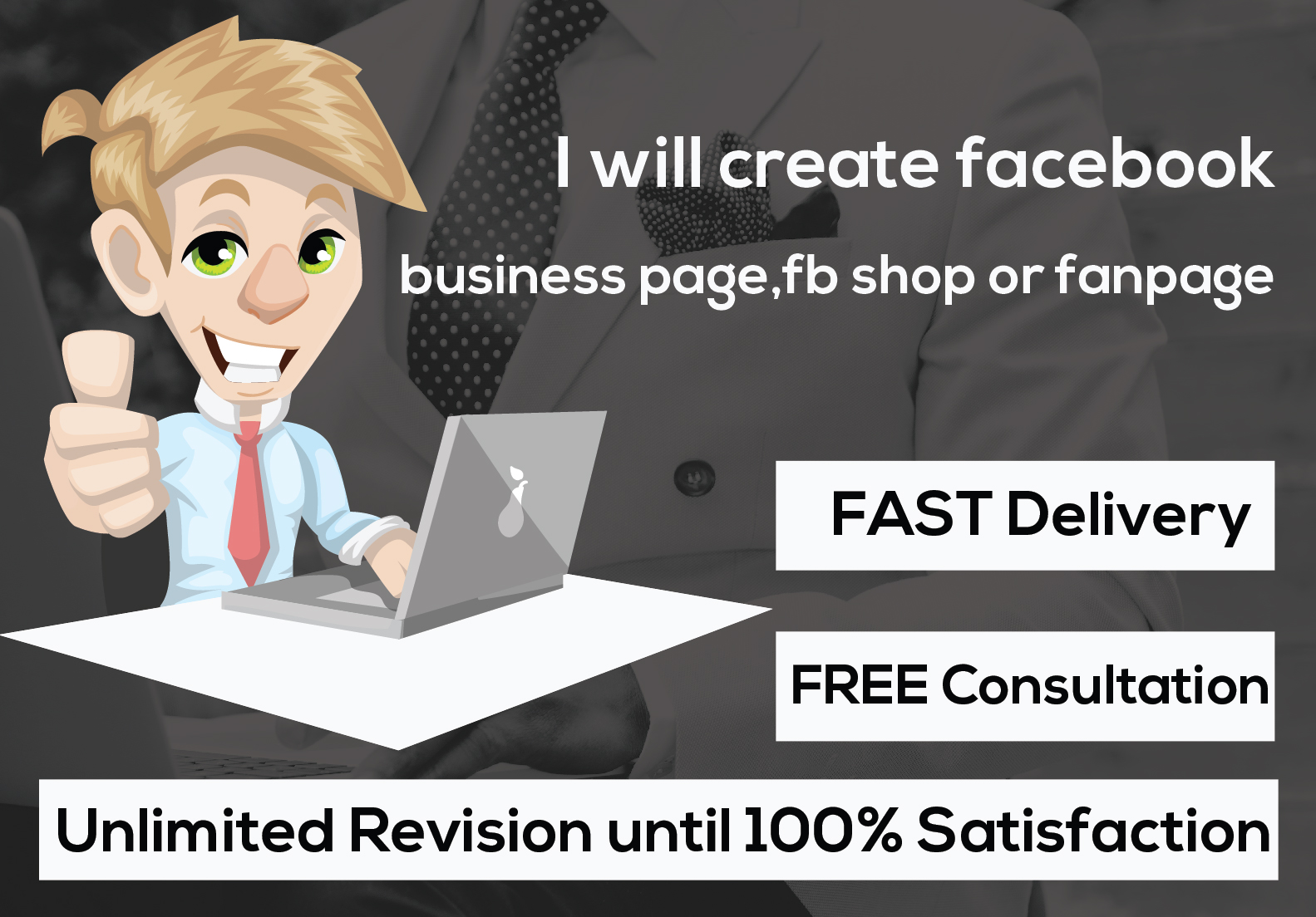 ill create and optimize a professional facebook business page
