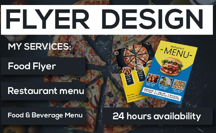 I will do modern restaurant menu,  food menu,  flyer or brochure