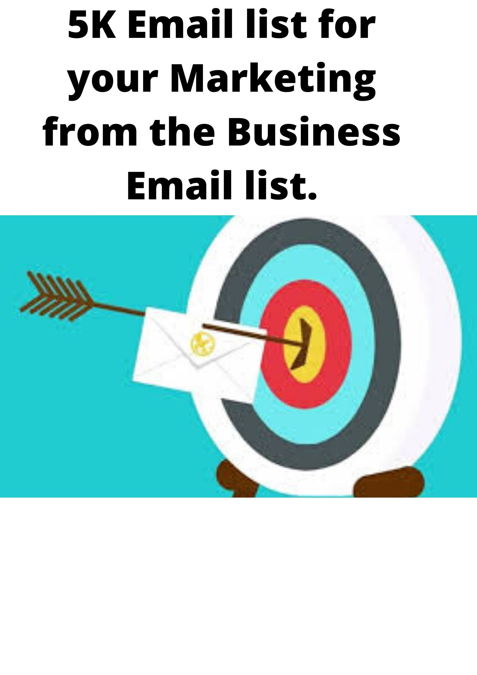 5K Email list for your Marketing from the Business Email list.