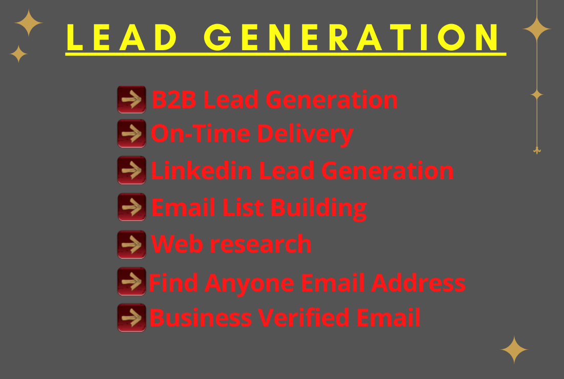 I will provide targeted b2b lead generation and web research