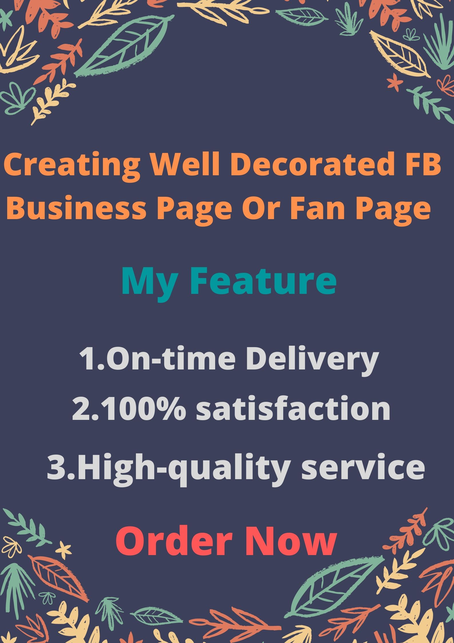 Creating Well Decorated F.B. Business Page