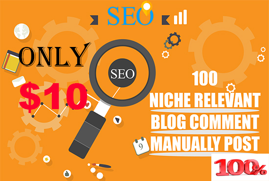 Get 100 Niche Blog Comment Manually