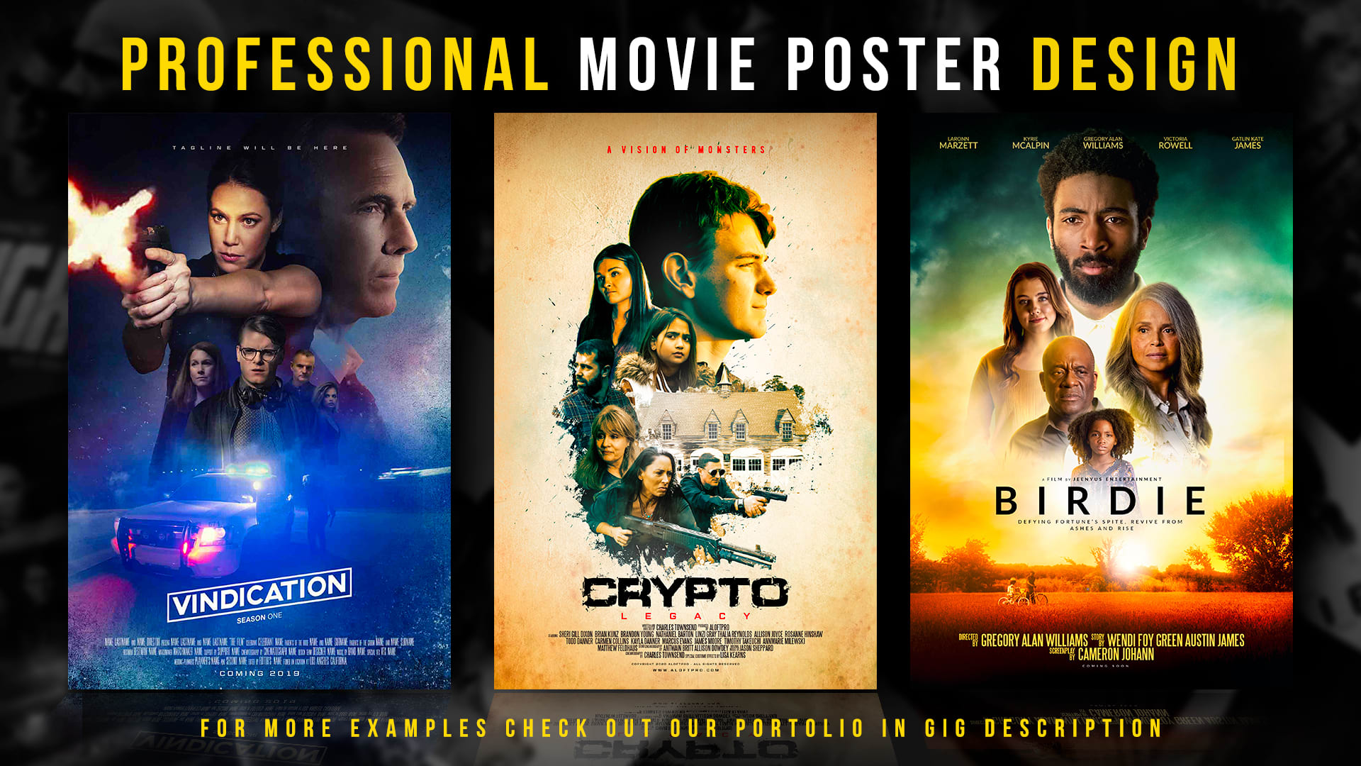 design a professional movie poster