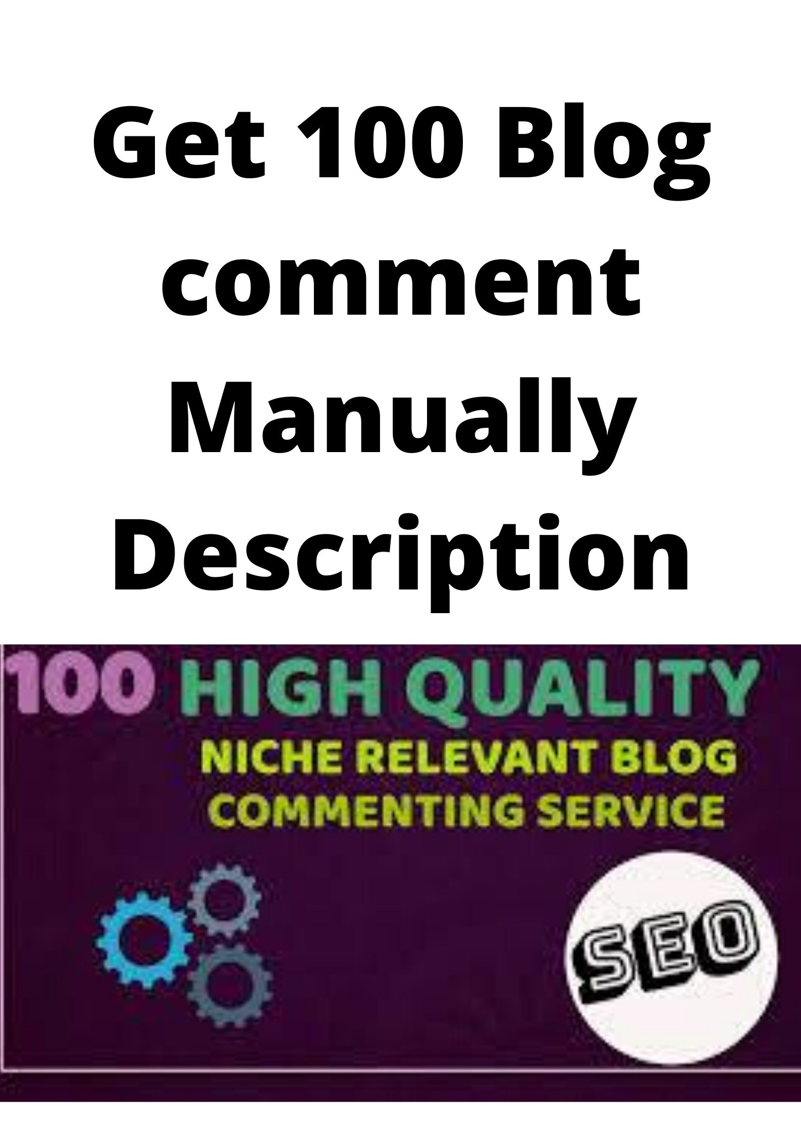 Neche targeted Blog comment Manually for a perfect result