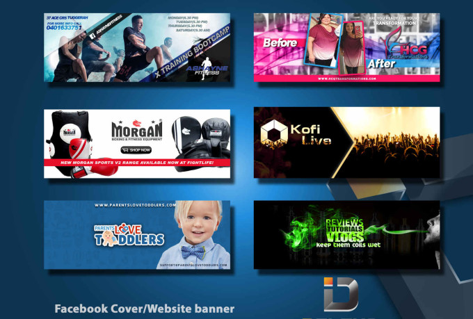 I will create 3 attractive banners with Business card