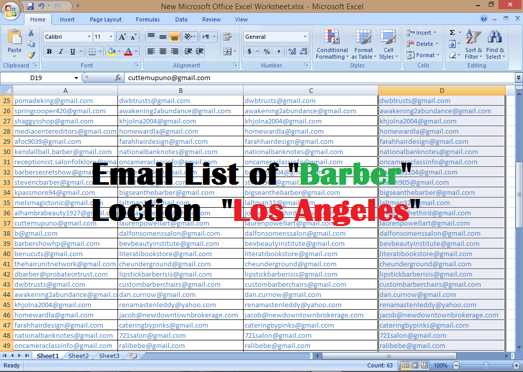 I will provide targeted email list from targeted place in less time