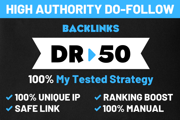 I will provide manual and high quality backlinks for google top ranking