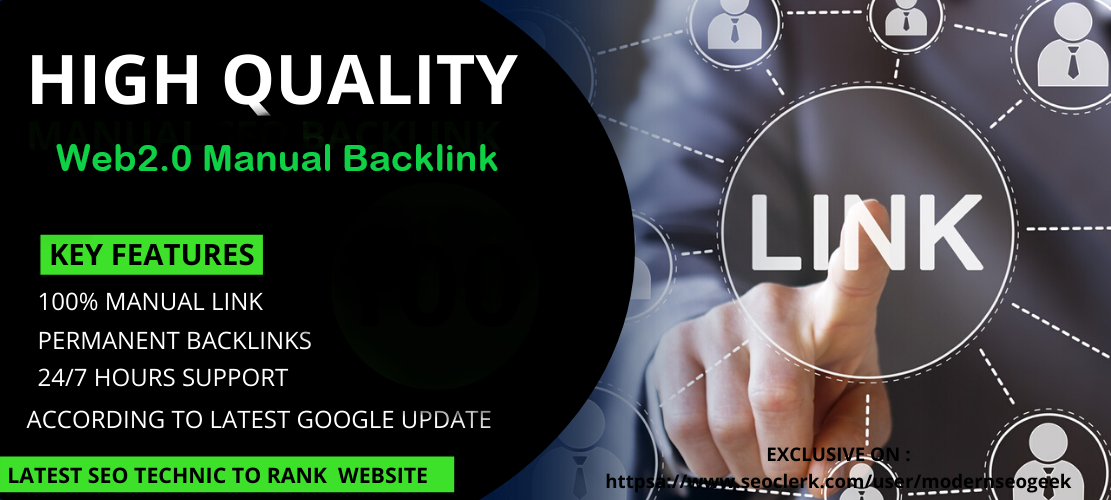 I will create 20 manual web 2.0 backlinks