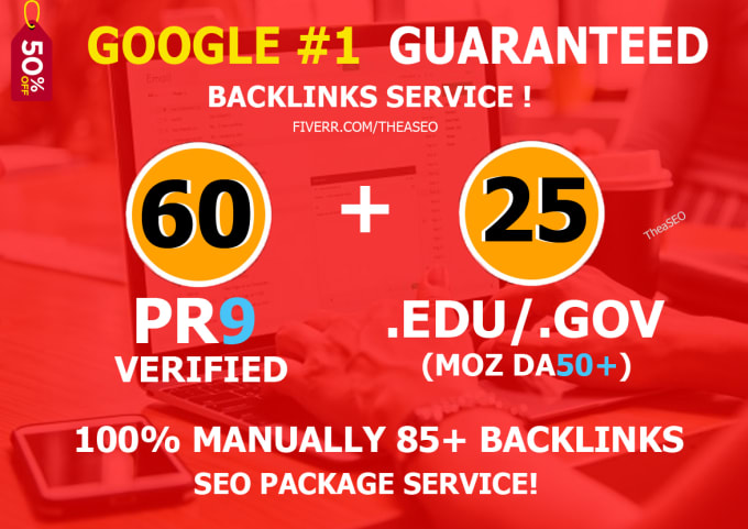 Boost website 60 pr9 and 25 edu backlink for website seo