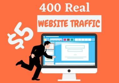 400 Real website traffic from social media