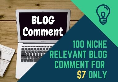 50 Relevant Niche Targeted Manual Blog Comment For Backlinks