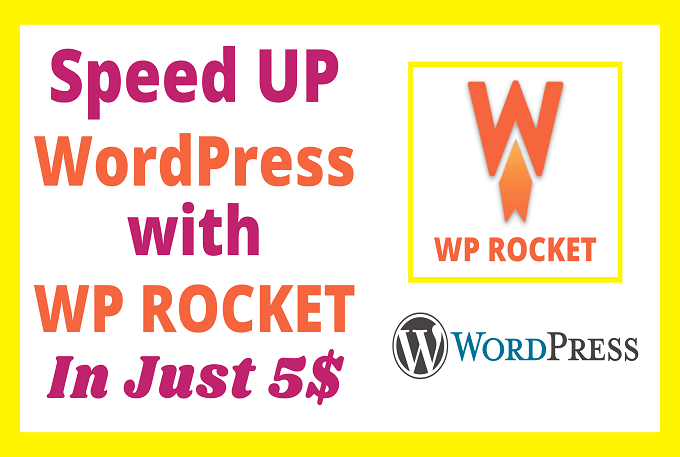 I will speed up WordPress with WP Rocket