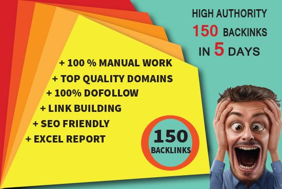 I will do 150 Backlinks with 60+ DA