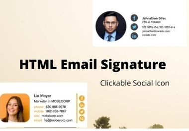 I will design clickable email signature in HTML