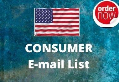 I will provide you USA based 5k varified consumer list
