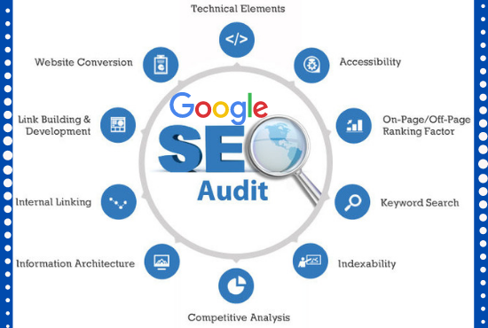 Provide a professional SEO Audit report & competitive website analysis to Rank