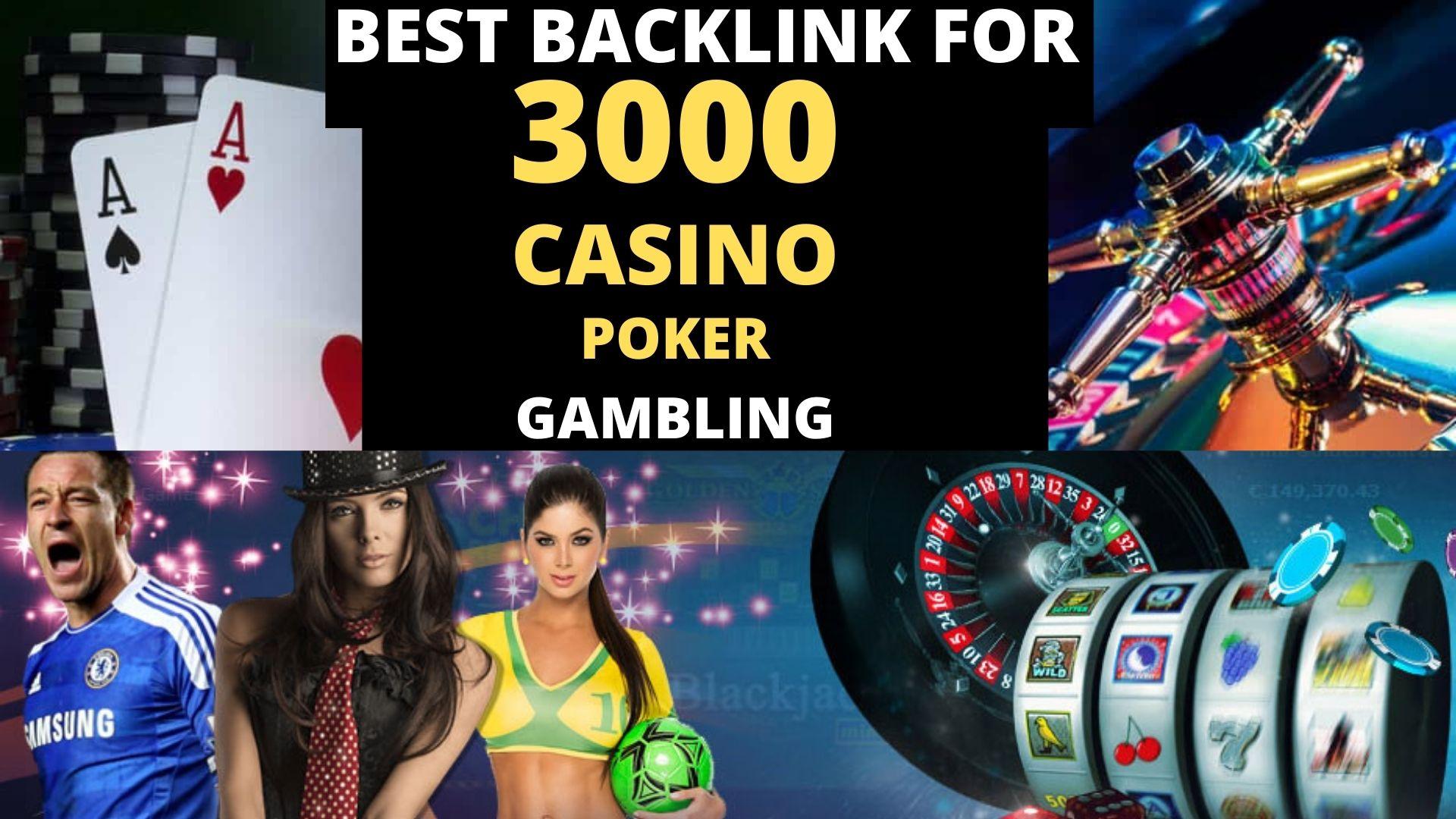 Permanent 2500+ powerful Casino,  Gambling,  Poker,  Sports betting,  Judi related backlinks