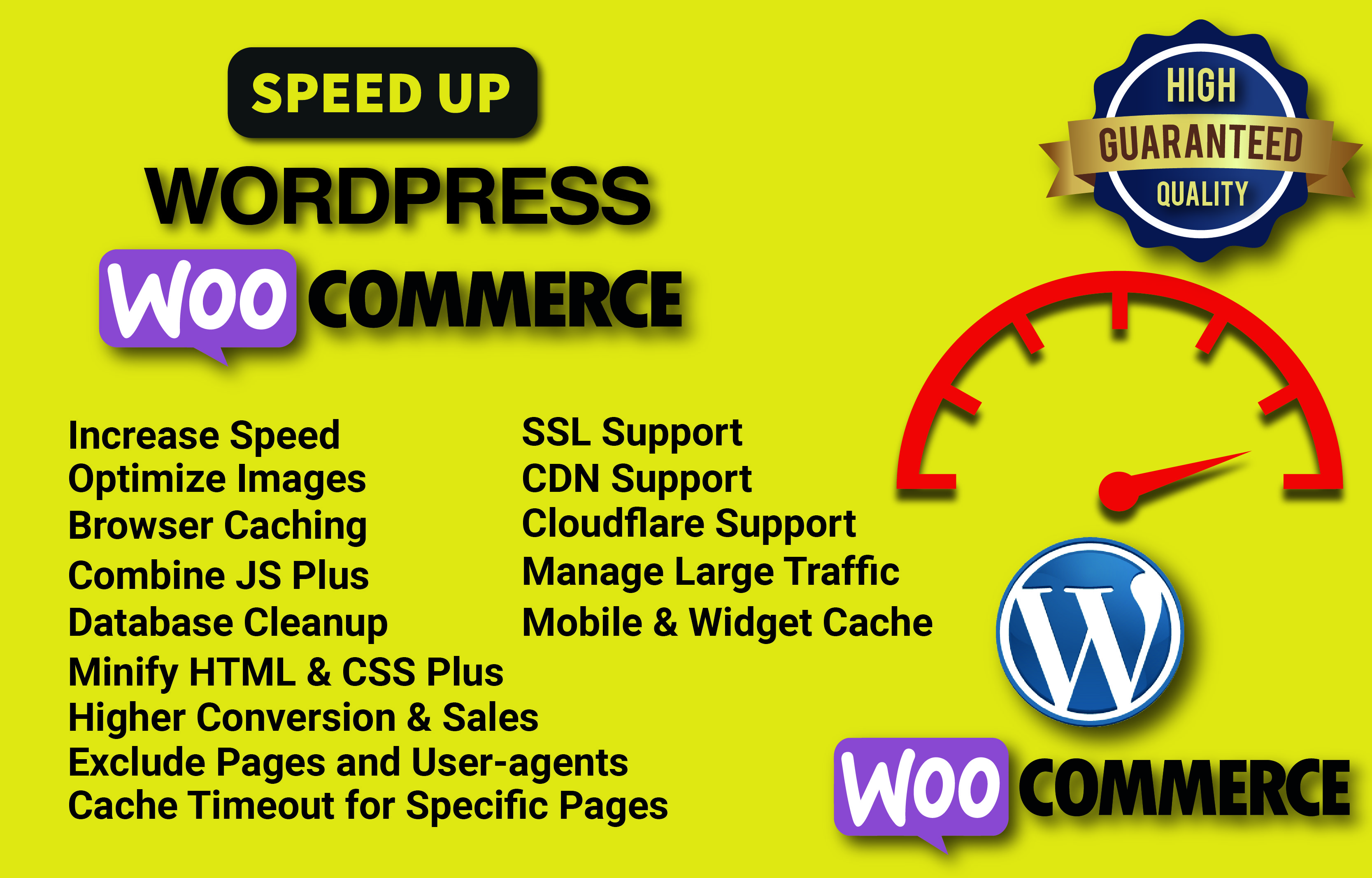 I will optimize WordPress speed and fix Woocommerce speed