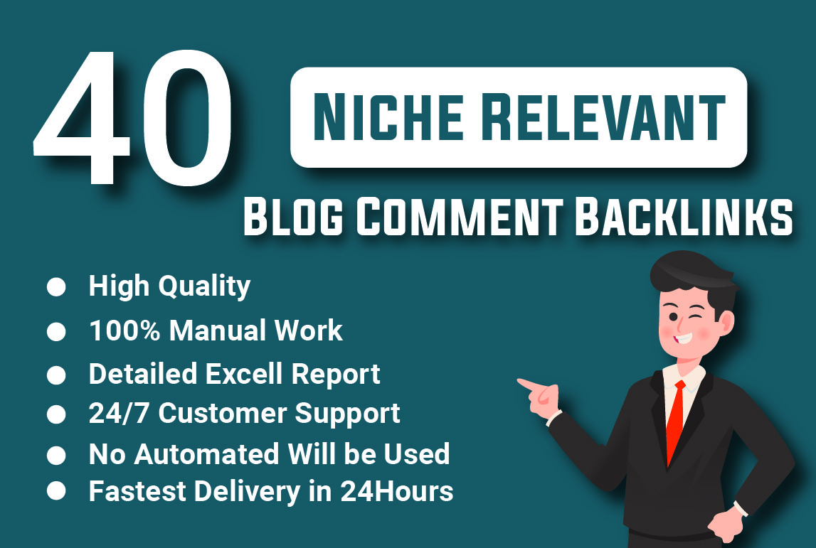 I will make high quality niche relevant blog comment backlinks