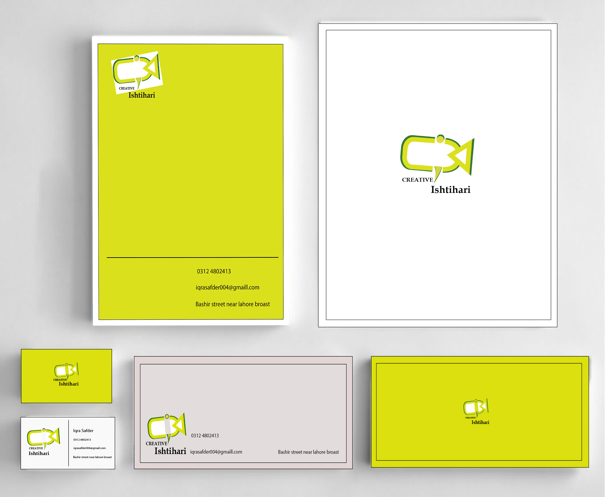 I will design professional and amazing business cards,  letterhead and stationary.