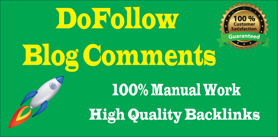 I will create manually 50 Dofollow blog comments backlink with high DA