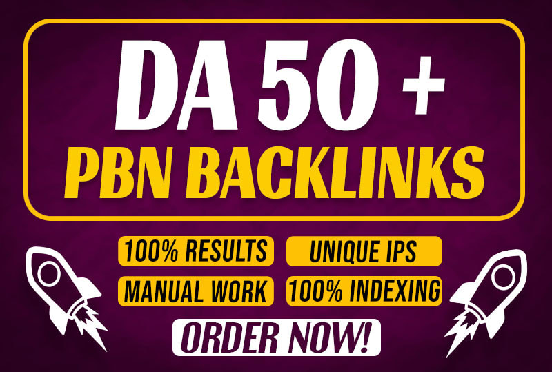 I will create 50 permanent high da dofollow PBN off page seo backlinks