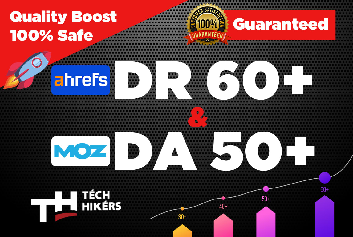 I will increase domain rating ahrefs DR 60 plus and domain authority moz da 50 plus