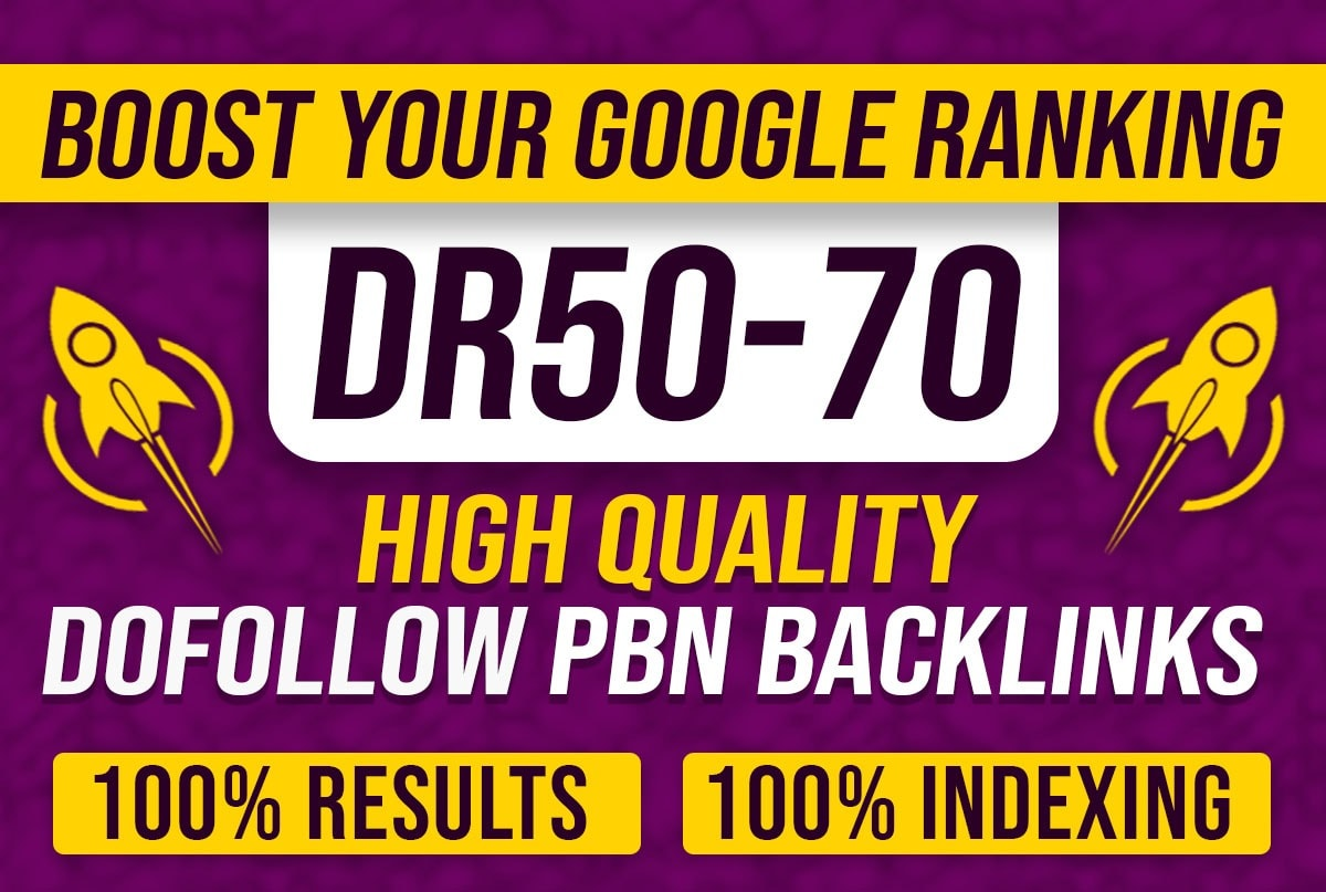 I will create 30 high DR 50 to 65 dofollow backlinks off page SEO