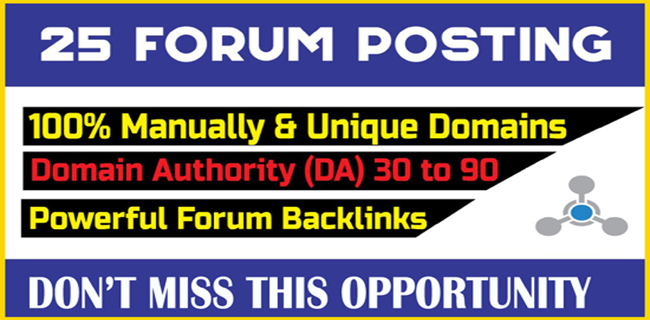 I will do increase your organic traffic by forum posting backlinks