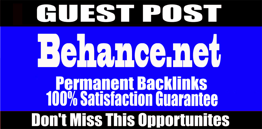 I will Write and publish guest post behance. net high quality permanent backlink