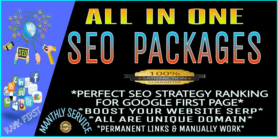 All in One monthly SEO service Boost your website Google 1st Page