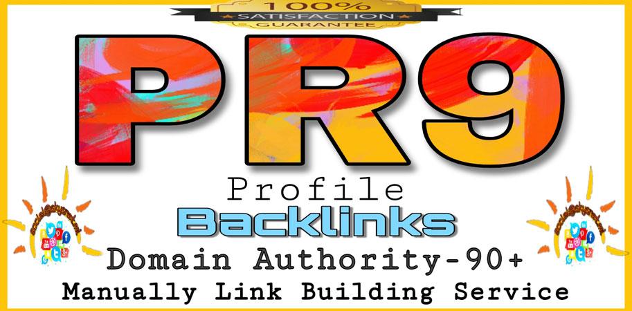 Create 25+ DOFOLLOW PR1-PR9 & DA90+ highly authorized profile Backlinks