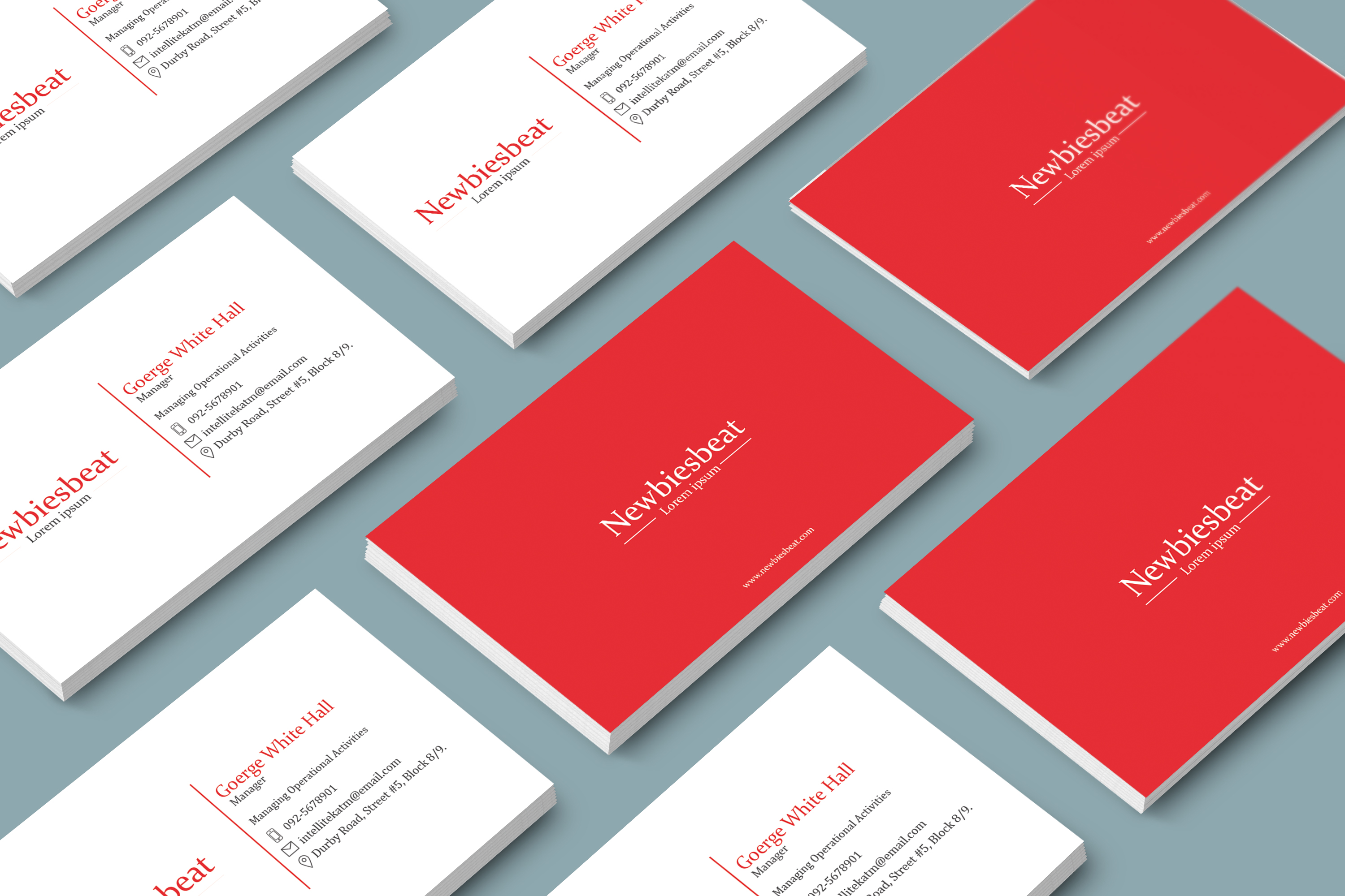 Designing a unique,  stylish,  minimalist and professional Business Card