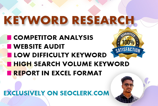 I will do the best SEO keyword research and competitor analysis