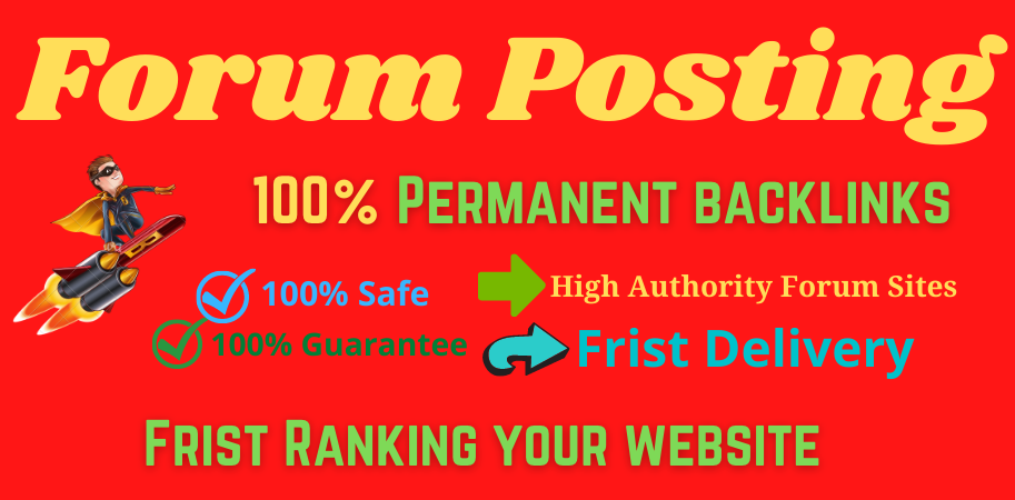 I Will Provide 20 Forum Posting High Authority DA & PA
