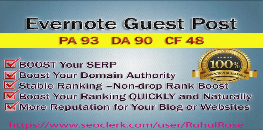 """Write And Publish Guest Post On """" Evernote"""" High DA-93, Alexa-494"""