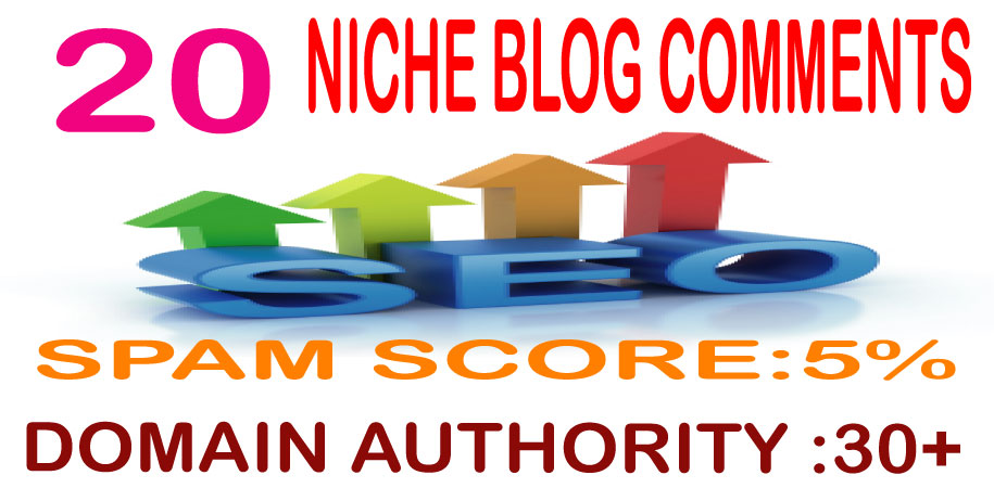 I will do 20 Niche Relevant Blog Comments Domain Authority 30+ Google Index Guaranteed