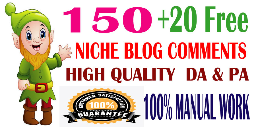 I will provide High Quality 150 Niche Blog Comments Backlinks Google Index Guaranteed