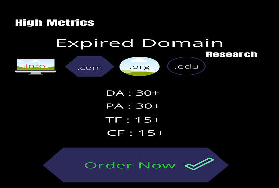 I will find niche relevant satisfactory expired domains