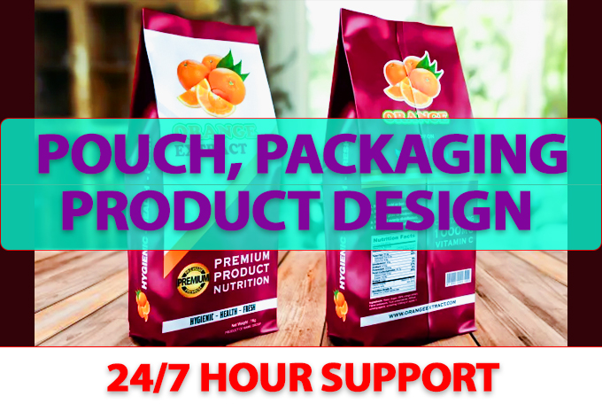 I will do premium pouch, packaging product design